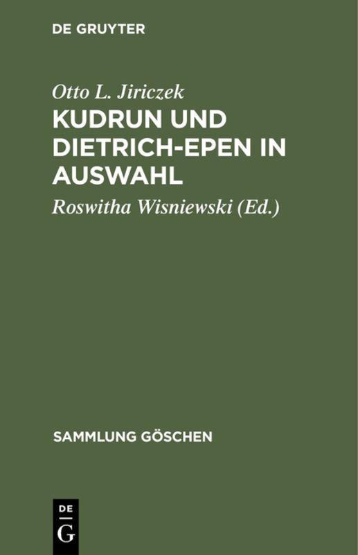 Cover-Bild Kudrun und Dietrich-Epen in Auswahl