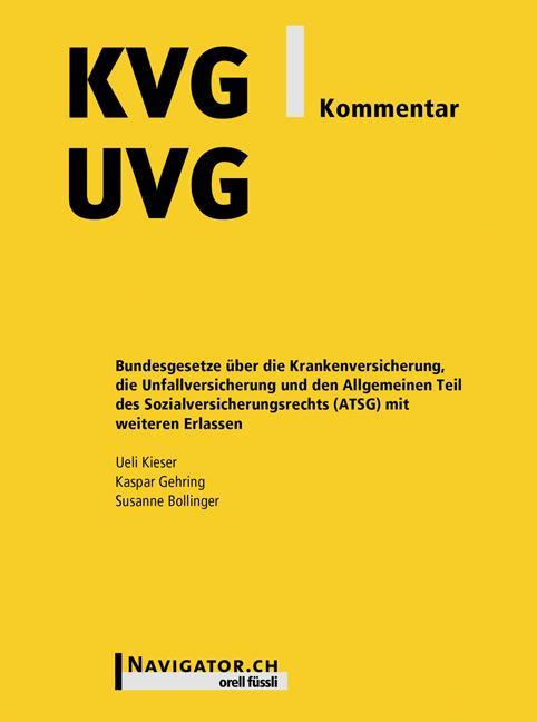 Cover-Bild KVG/UVG Kommentar