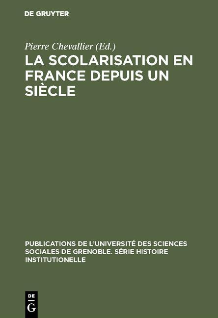 Cover-Bild La Scolarisation en France depuis un siècle