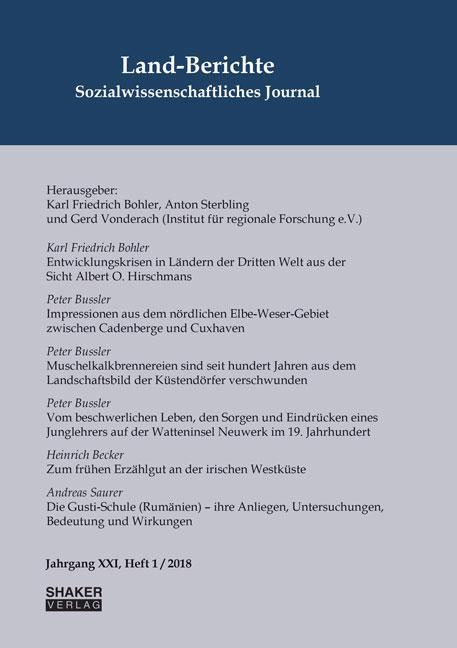 Cover-Bild Land-Berichte. Sozialwissenschaftliches Journal