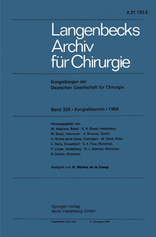 Cover-Bild Langenbecks Archiv für Chirurgie
