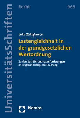 Cover-Bild Lastengleichheit in der grundgesetzlichen Wertordnung