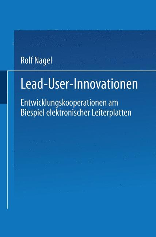 Cover-Bild Lead User Innovationen