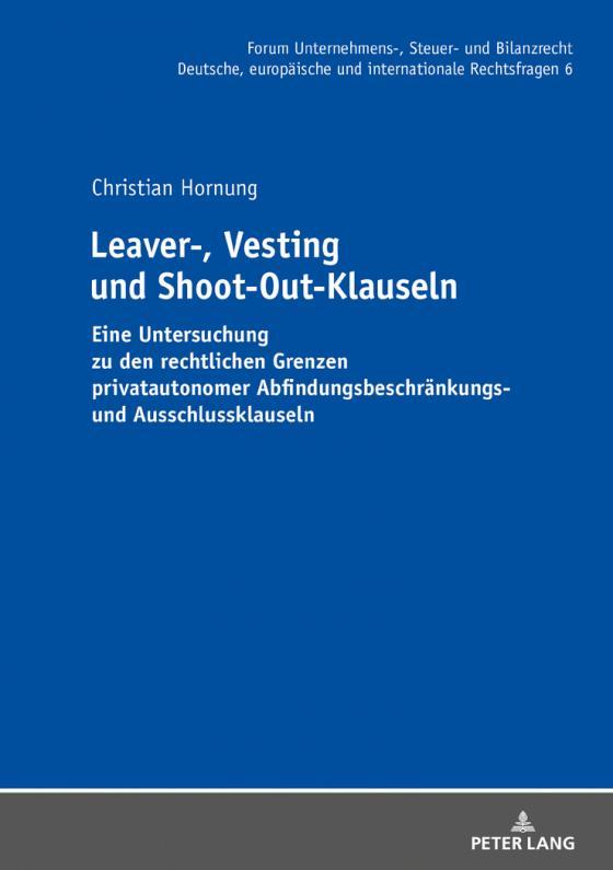 Cover-Bild Leaver-, Vesting- und Shoot-Out-Klauseln