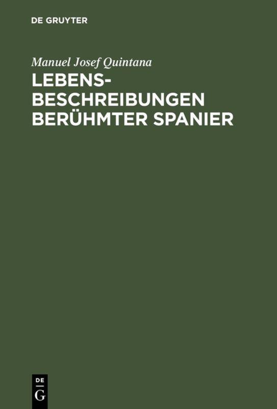Cover-Bild Lebensbeschreibungen berühmter Spanier