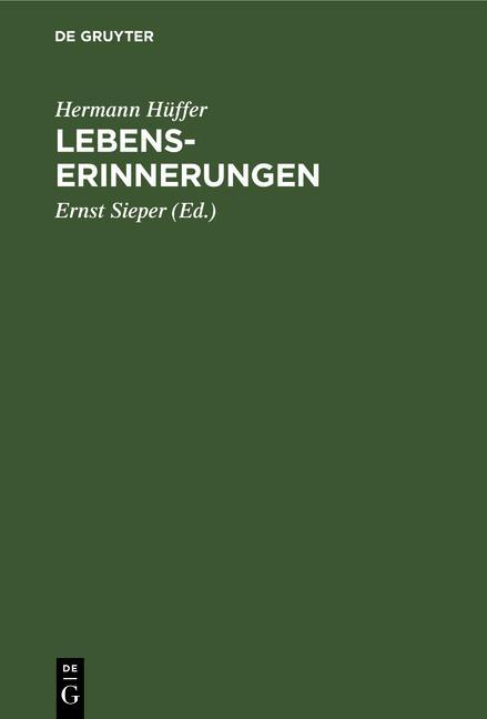 Cover-Bild Lebenserinnerungen