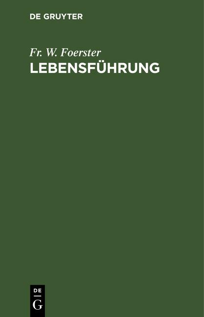 Cover-Bild Lebensführung