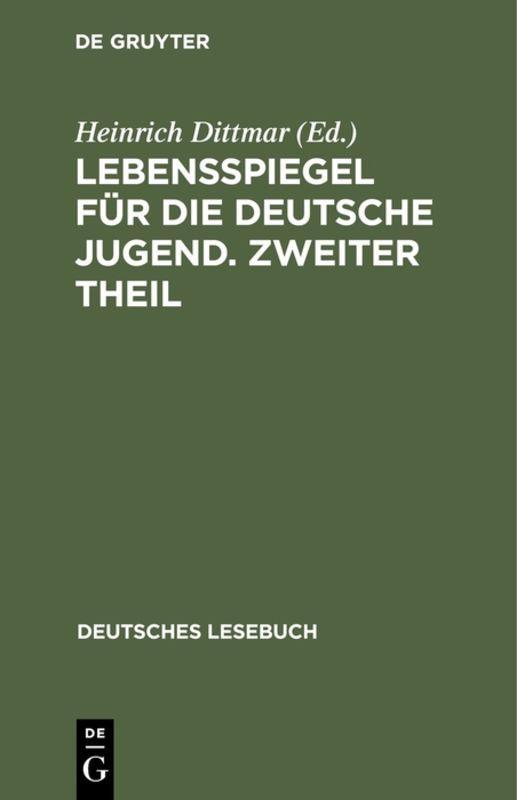 Cover-Bild Lebensspiegel für die deutsche Jugend. Zweiter Theil