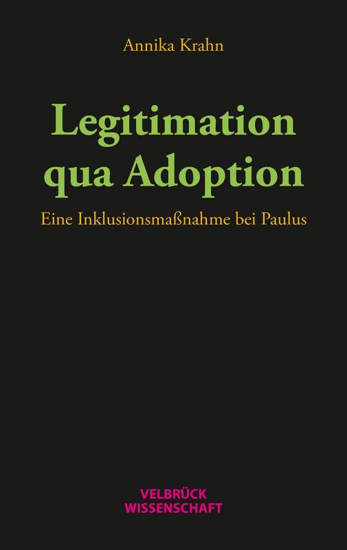 Cover-Bild Legitimation qua Adoption
