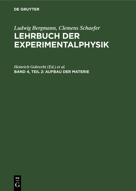 Cover-Bild Lehrbuch der Experimentalphysik / Aufbau der Materie
