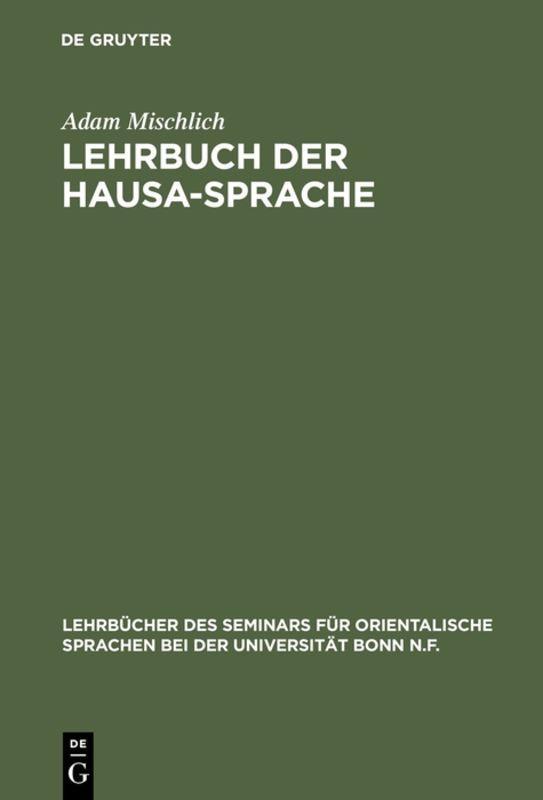 Cover-Bild Lehrbuch der Hausa-Sprache