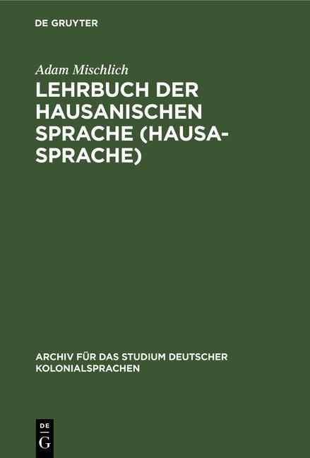 Cover-Bild Lehrbuch der hausanischen Sprache (Hausa-Sprache)
