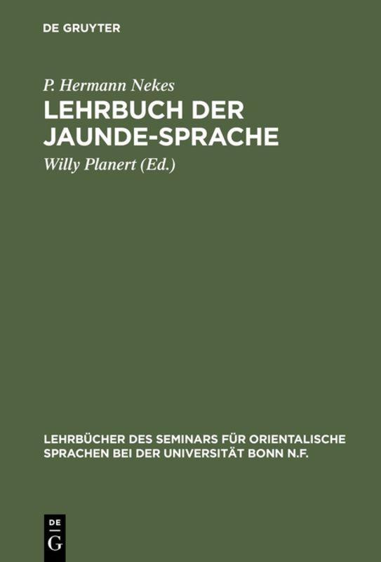 Cover-Bild Lehrbuch der Jaunde-Sprache