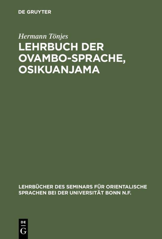 Cover-Bild Lehrbuch der Ovambo-Sprache, Osikuanjama