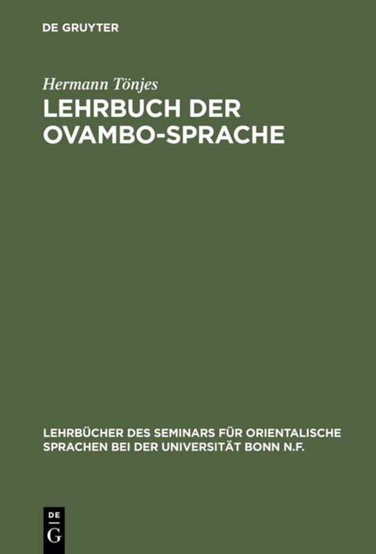 Cover-Bild Lehrbuch der Ovambo-Sprache
