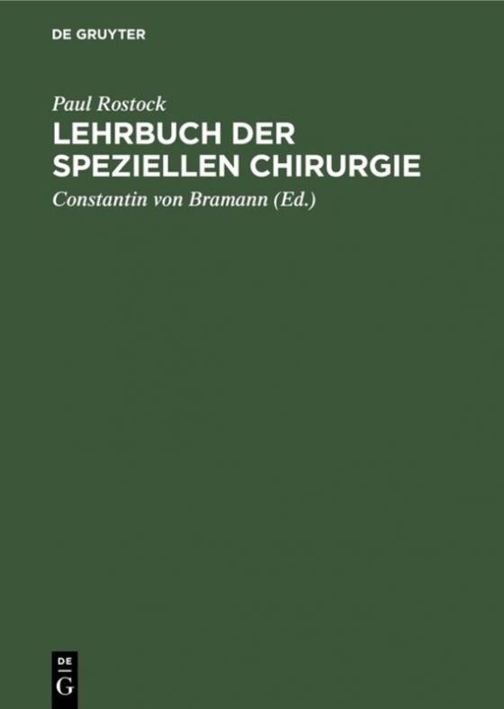 Cover-Bild Lehrbuch der speziellen Chirurgie