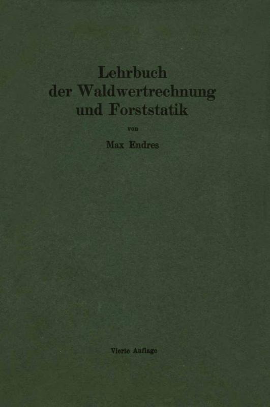 Cover-Bild Lehrbuch der Waldwertrechnung und Forststatik