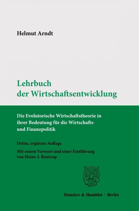 Cover-Bild Lehrbuch der Wirtschaftsentwicklung.