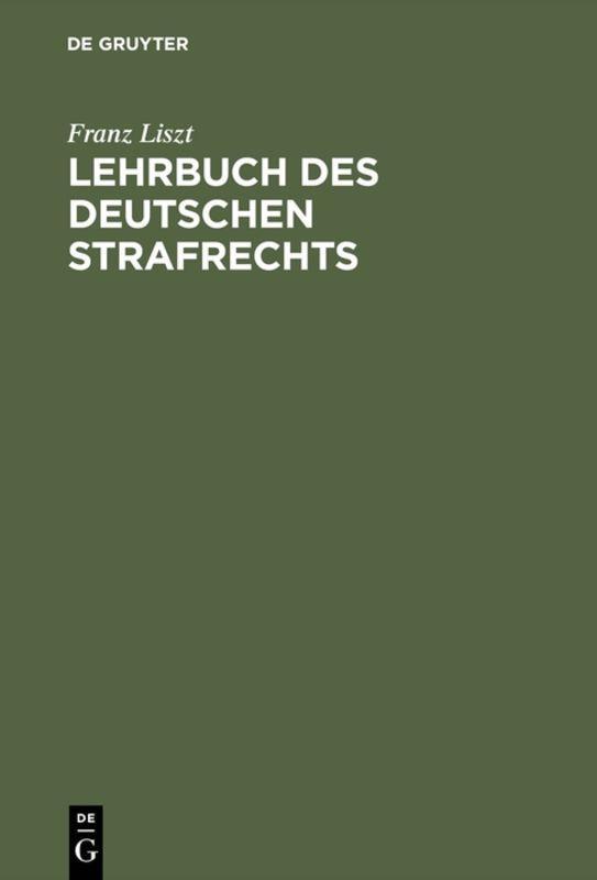 Cover-Bild Lehrbuch des deutschen Strafrechts