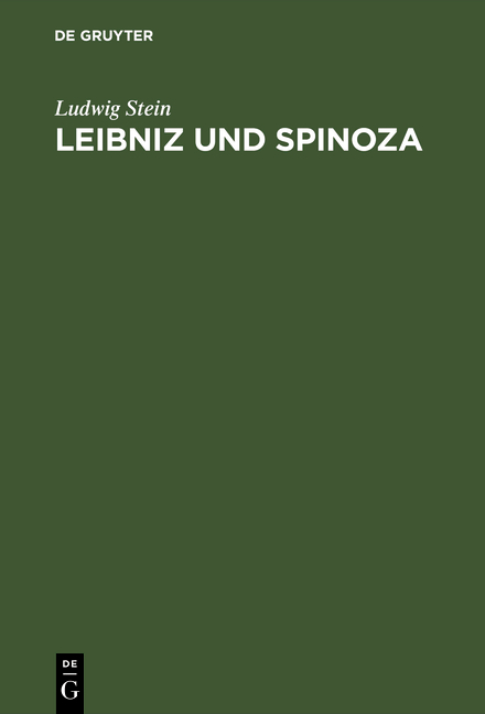 Cover-Bild Leibniz und Spinoza