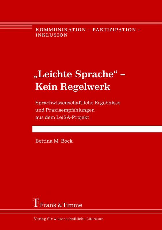 """Cover-Bild """"Leichte Sprache"""" – Kein Regelwerk"""