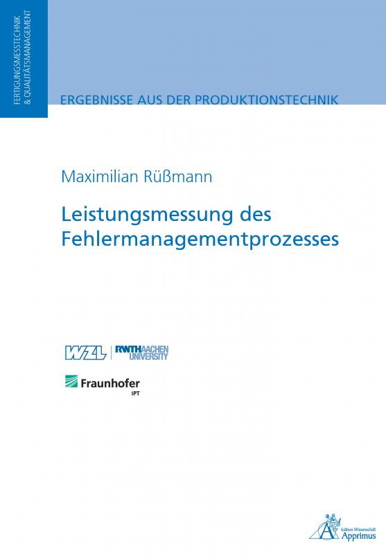 Cover-Bild Leistungsmessung des Fehlermanagementprozesses