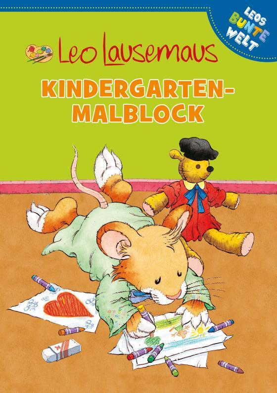 Cover-Bild Leo Lausemaus - Kindergarten-Malblock