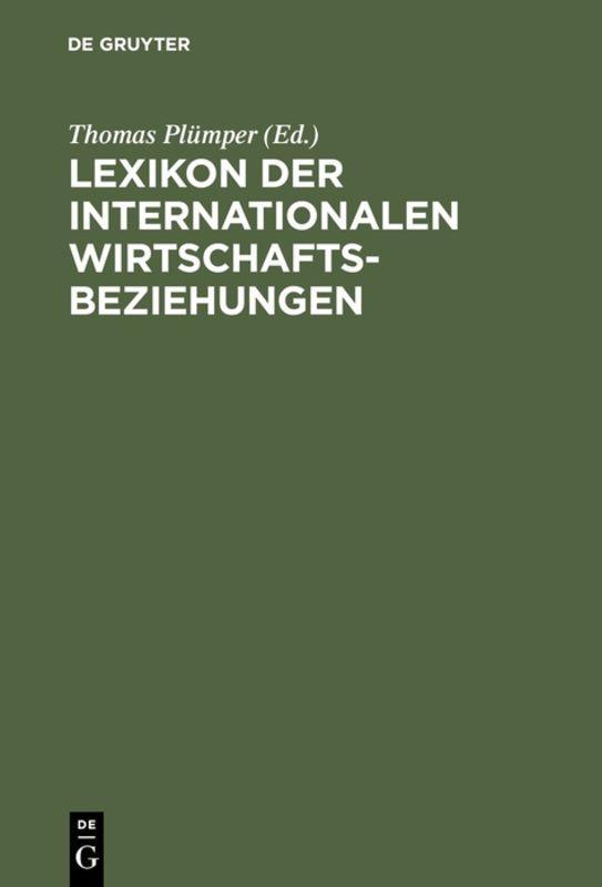 Cover-Bild Lexikon der Internationalen Wirtschaftsbeziehungen