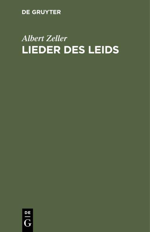 Cover-Bild Lieder des Leids
