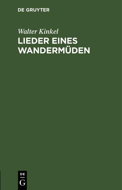 Cover-Bild Lieder eines Wandermüden