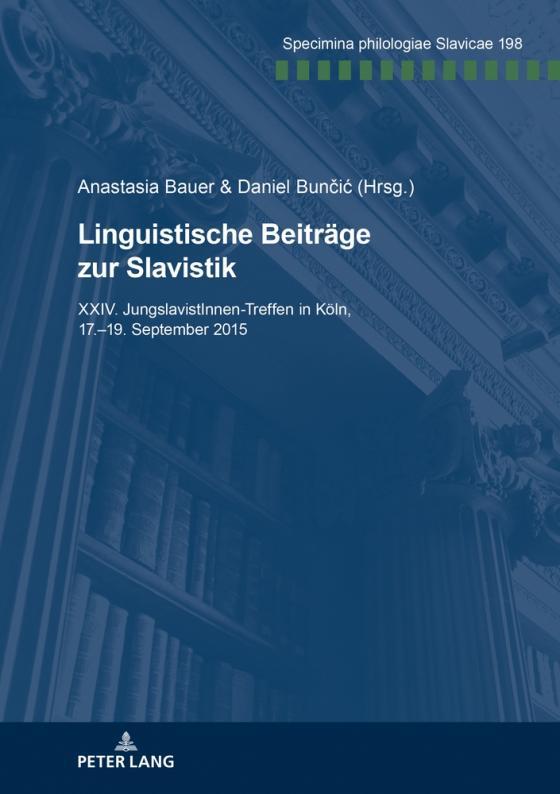 Cover-Bild Linguistische Beiträge zur Slavistik