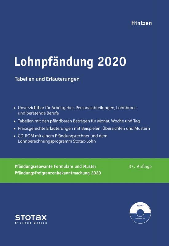 Cover-Bild Lohnpfändung 2020