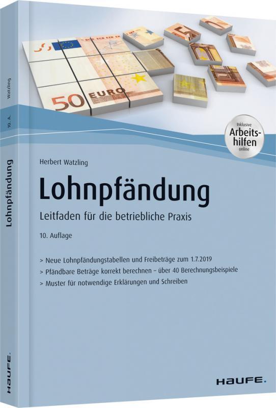 Cover-Bild Lohnpfändung - mit Arbeitshilfen online