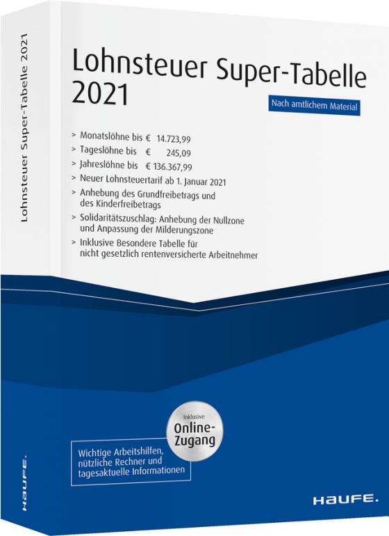 Cover-Bild Lohnsteuer Super-Tabelle 2021 - inkl. Onlinezugang