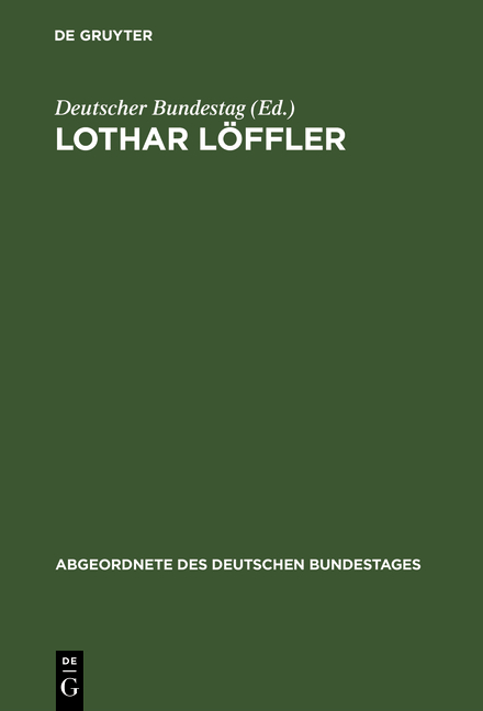 Cover-Bild Lothar Löffler