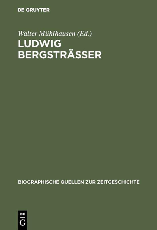 Cover-Bild Ludwig Bergsträsser