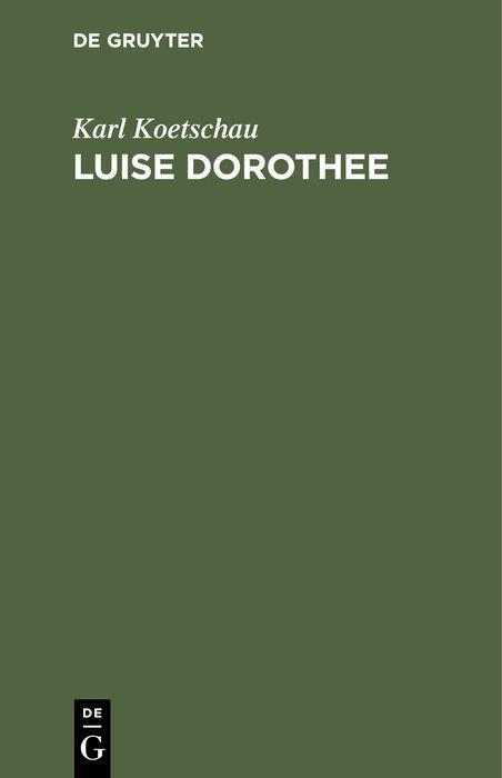Cover-Bild Luise Dorothee