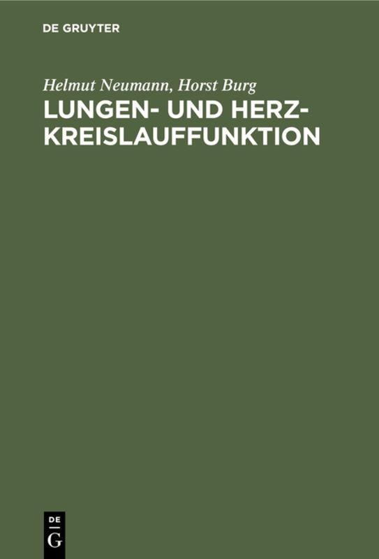 Cover-Bild Lungen- und Herz-Kreislauffunktion