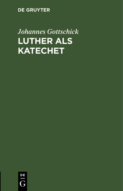 Cover-Bild Luther als Katechet