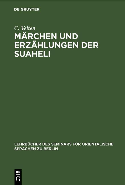 Cover-Bild Märchen und Erzählungen der Suaheli