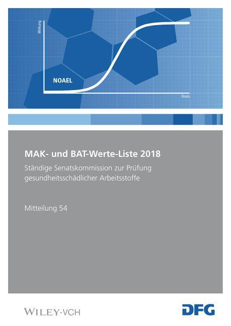 Cover-Bild MAK- und BAT-Werte-Liste / MAK- und BAT-Werte-Liste 2018