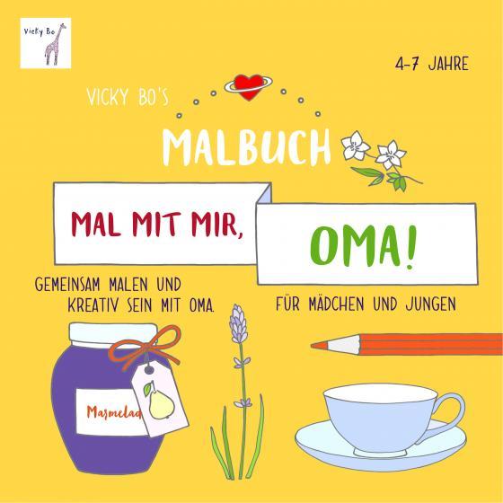 Cover-Bild Mal mit mir, Oma! Malbuch ab 4-7 Jahre