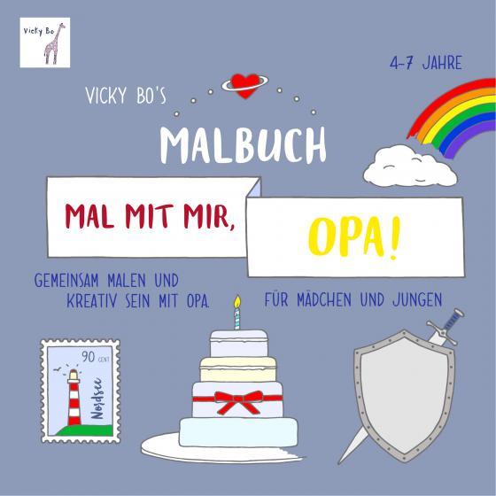 Cover-Bild Mal mit mir, Opa! Malbuch ab 4-7 Jahre