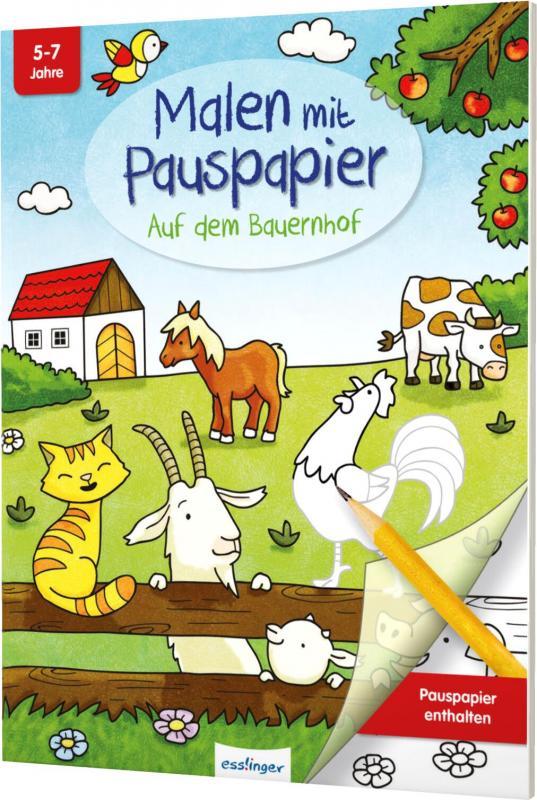 Cover-Bild Malen mit Pauspapier: Auf dem Bauernhof