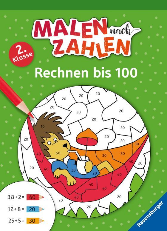 Cover-Bild Malen nach Zahlen, 2. Klasse: Rechnen bis 100