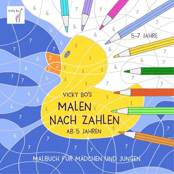 Cover-Bild Malen nach Zahlen ab 5 Jahre. Malbuch