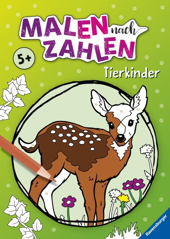 Cover-Bild Malen nach Zahlen ab 5 Jahren: Tierkinder