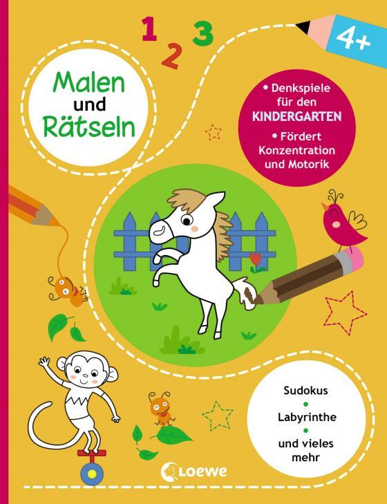 Cover-Bild Malen und Rätseln - Denkspiele für den Kindergarten (4+)