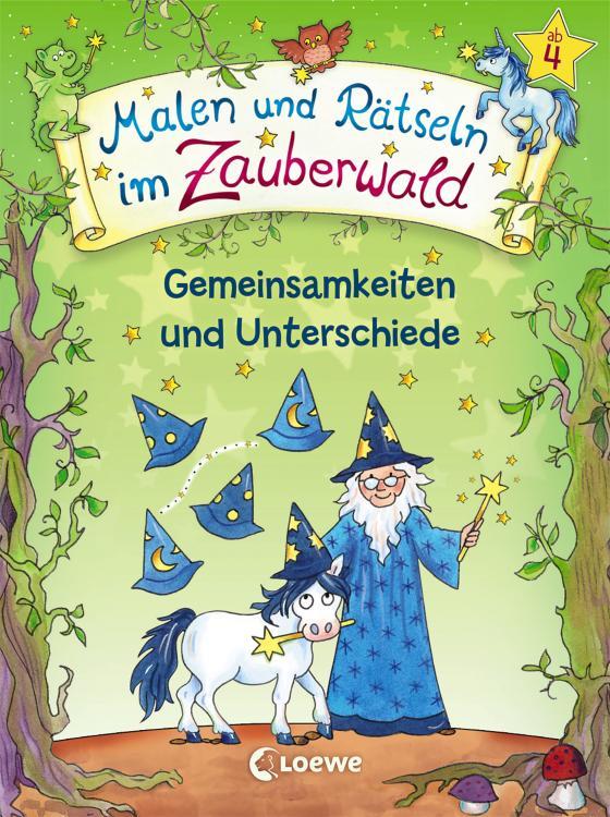 Cover-Bild Malen und Rätseln im Zauberwald - Gemeinsamkeiten und Unterschiede
