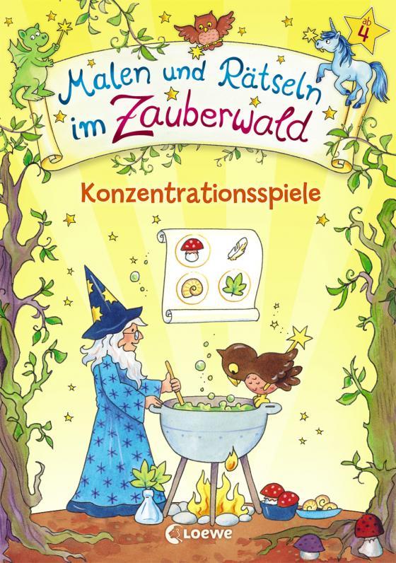 Cover-Bild Malen und Rätseln im Zauberwald - Konzentrationsspiele